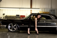 #impala, #garage, pin-up, vintage